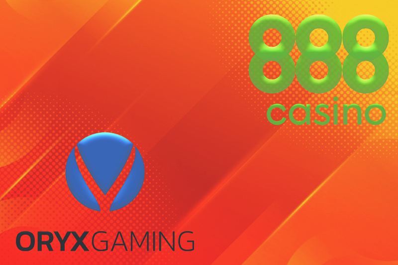 ORYX Gaming, 888 Unveil Casino Content Supply Deal